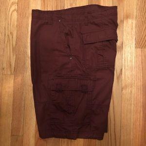 Men's OP Maroon Cargo Shorts